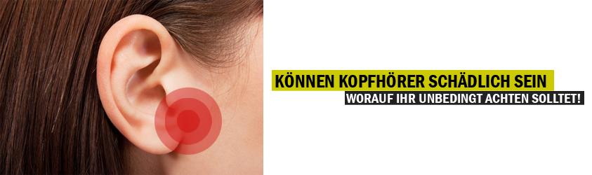 Gesundheitstipps Kopfhörer Schaden